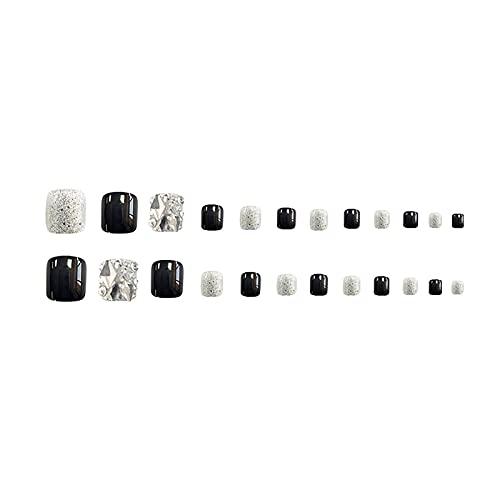24 witte nagels (type gellijm).