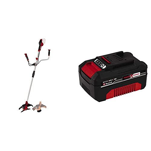 Einhell AGILLO - Guadaña a Baterías, 2x18V + 4511396 Power X-Change - Batería de Repuesto, 18 V, 4.0 Ah, duración de Carga de 60 Minutos