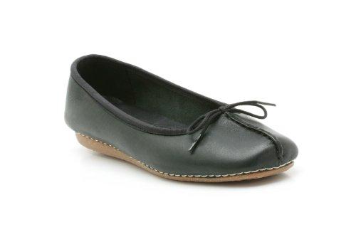 Clarks Freckle Ice, Damen Geschlossene Ballerinas, Schwarz (Black Leather), EU 39, (UK 5.5)