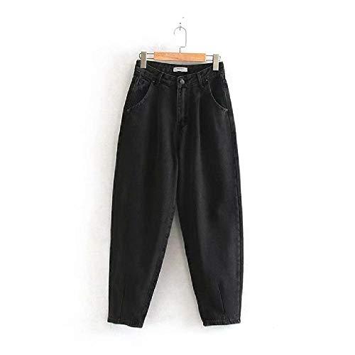 LILIZHAN Jeans Vrouw Losse Casual Harem Broek Jongens Moeder Jeans Streetwear Denim Broek Vrouwen Plissé Pocket Broek