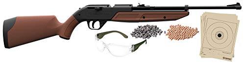 Crosman 760BKT Pump Master Variable Pump BB Repeater/Single Shot .177-Caliber Pellet Air Rifle Starter Kit , Brown
