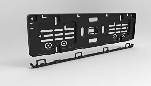 Kurz-Kennzeichenhalter 42cm (420 mm) in schwarz (2 Stück) perfekt für 4- und 5-stellige Nummernschilder