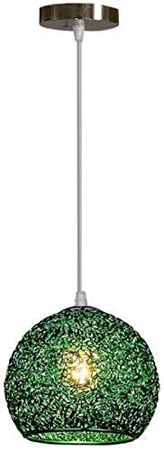 Lampara colgante techo, Lámpara colgante de la vendimia Lámpara de aluminio negro E27 Pendel Lamp Industria Retro suspensión Linterna de altura Lámpara colgante ajustable para sala de estar, D18CM , F