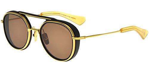 DITA Gafas de Sol SPACECRAFT Matte Black Yellow Gold/Dark Brown 52/21/144 unisex