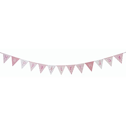 Talking Tables Pink N Mix Happy Birthday Paper Bunting 3M