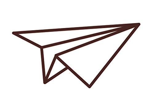 Sello de madera - Avión Origami