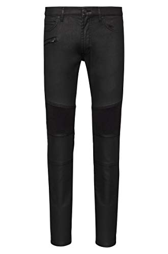 Hugo Skinny-Fit Biker-Jeans Hugo 734/54 aus beschichtetem Stretch-Denim schwarz (33-32)