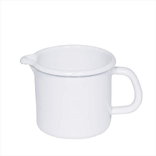 RIESS 0054-033 Schnabeltopf 16 2,00L, CLASSIC WEISS, Milchtopf, Milchkrug, Durchmesser 16 cm, Höhe 13 cm, Inhalt 2 l, Emaille, weiß