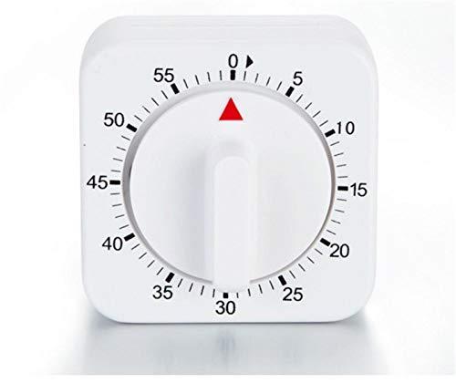 VEADK Küchentimer 60 Minuten Küchentimer Countdown Alarm Erinnerung Weißes Quadrat Mechanischer Timer für die Küche