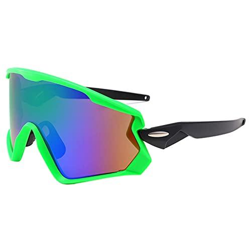 Sports Cycling Sunglasses,UV400 Protection Full Frame Riding Goggles Eyewear,F