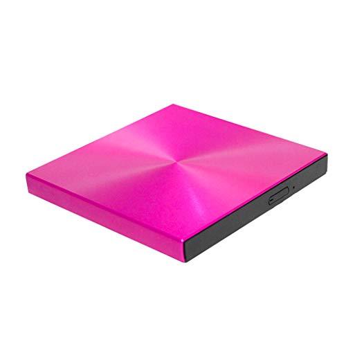 Amuzocity External Type C USB 3.0 CD Drive Portable CD DVD +/- RW Drive Writer - Red