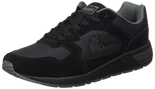 Kappa Herren VIPERA Leichtathletik-Schuh, Negro/Gris, 43 EU