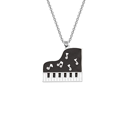SEIRAA Piano Keyboard Necklace Music Jewelry for Women Girls Piano Gifts Music Lovers Jewelry (Piano Necklace)