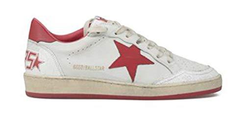 Zapatillas de deporte antideslizantes para mujer, de cuero, con parte superior baja, color Rojo, talla 42 EU