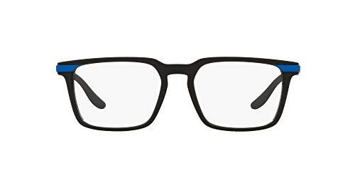 AX Armani Exchange Ax3081 - Gafas rectangulares para hombre, Negro mate/lente de demostración., 53mm