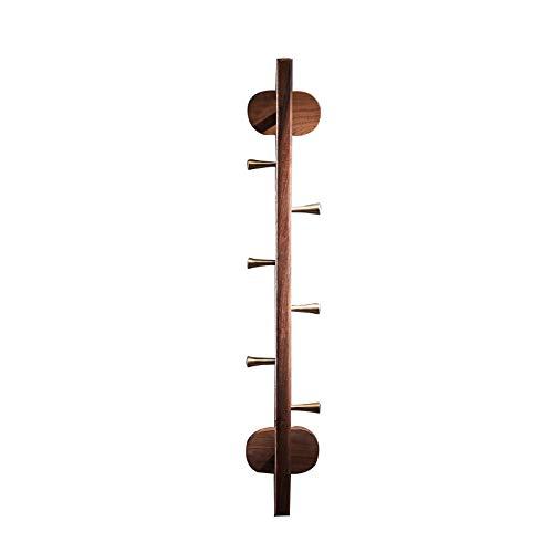 Perchas de Pared Perchero Vertical Ganchos De Ahorro De Espacio para Colgar para Batas, Abrigos, Toallas, Llaves Y Bolsos Color Nogal Toallas De Cocina Perchero(Size:UN)