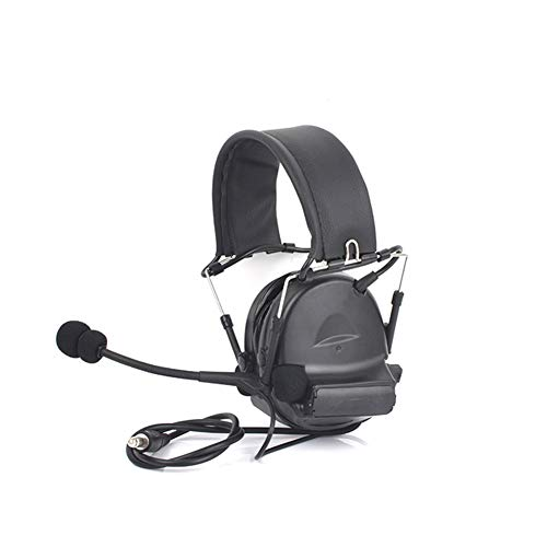 SZKQN Headset esports gaming headset, pick-up ruisonderdrukking cosplay militaire ventilator live CS communicatie-apparatuur, geschikt voor entertainment, e-sporten, business office, size, Zwart