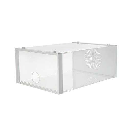 Caja de zapatos para zapatos, caja de almacenamiento para zapatos, ahorro de espacio, caja de almacenamiento transparente para zapateros (color: transparente, tamaño: 1 unidad)