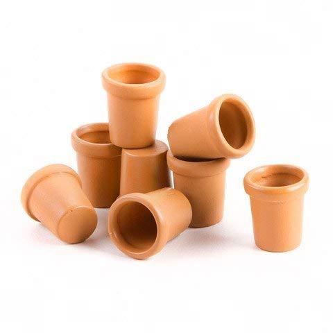 Darice Fairy Garden Mini Clay Pots x .62 x .56 Inches x 8 Pieces Per Package