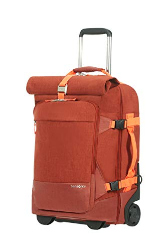 Samsonite Ziproll - Travel Duffle/Backpack with 2 Wheels S, 55 cm, 46.5 Litre, Orange (Burnt Orange)