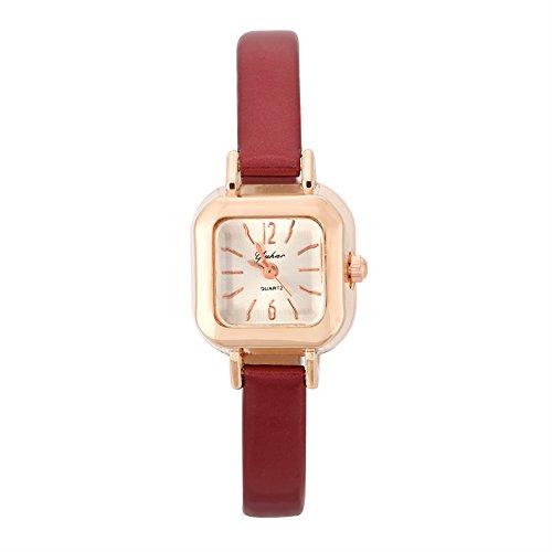 yuyte Relojes de Cuarzo para Mujer, Reloj de Pulsera analógico con Correa de PU para Mujer(#02)