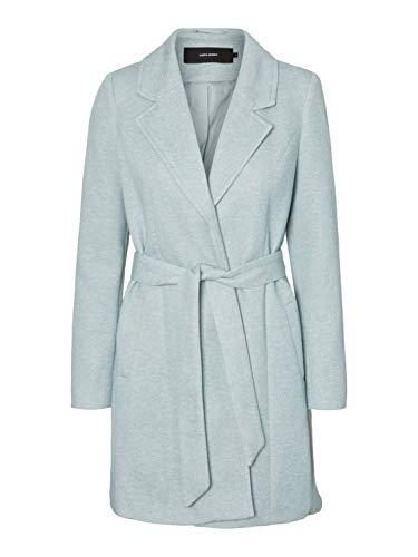 Vero Moda Damen VMVERODONA Trenchcoat COL Wollmischungs-Mantel, Grau, L
