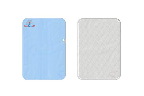 WeeCareUSA Reusable 24x36 Incontinence Pads   Washable Underpads Potty Training, Dog, Elderly Incontinence, and Mattress Protection   Ecofriendly 350 Washes   Double Stitched, Easy to Clean (Blue)