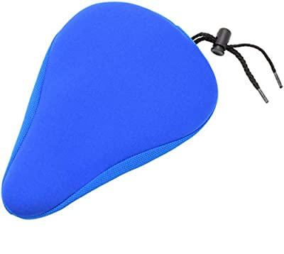 """Domain Cycling Premium Child Bike Gel Seat Cushion Cover 9""""x6"""" Most Comfortable Small Bicycle Saddle Pad Kids v2 (Blue)"""