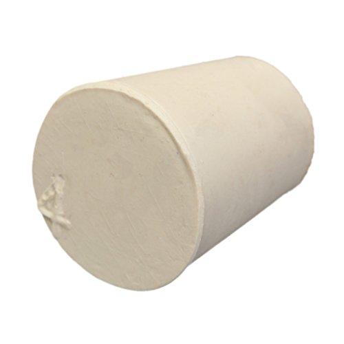 5 Piezas Tapón de Caucho Sólido de Laboratorio Tapones de Tubo Cónico Paquete Blanco - 4#