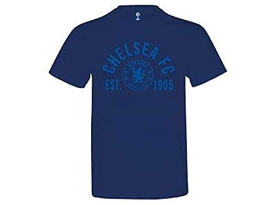 """Chelsea FC EST 1905 T-Shirt Authentic UK Merch (Large 42/44"""") Royal Blue"""