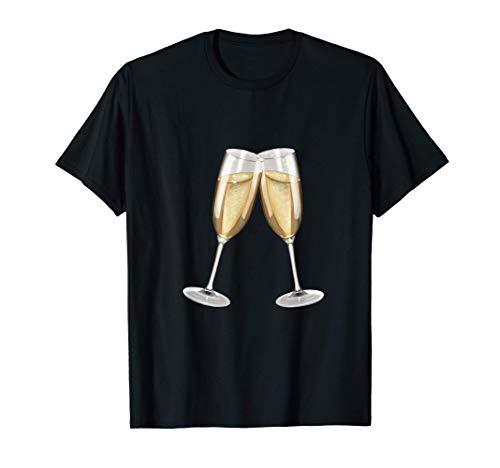 Sekt - Sparkling Wine Champagne Glasses Toast (D010-0645B) T-Shirt