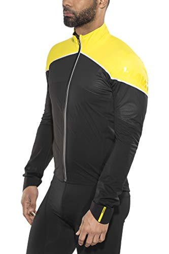 MAVIC Cosmic H2O SL Fahrrad Regenjacke schwarz/gelb 2020: Größe: L (50/52)
