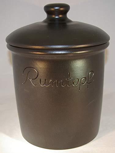 Töpferei Seifert Rumtopf 5 Liter Grade schwarz matt