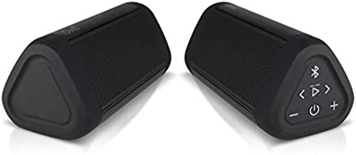 OontZ Angle 3 Ultra (4th Gen) Waterproof 5.0 Bluetooth Speaker, Two Speaker Edition, 14 Watts, Hi-Quality Sound & Bass, 100 Ft Wireless Range, Bluetooth Speakers by Cambridge SoundWorks (Black)