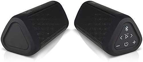 OontZ Angle 3 Ultra (4th Gen) Waterproof 5.0 Bluetooth Speaker, Two Speaker Edition, 14 Watts, Hi-Quality Sound & Bass, 100 Ft Wireless Range, Bluetooth Speakers by Cambridge SoundWorks (Black)