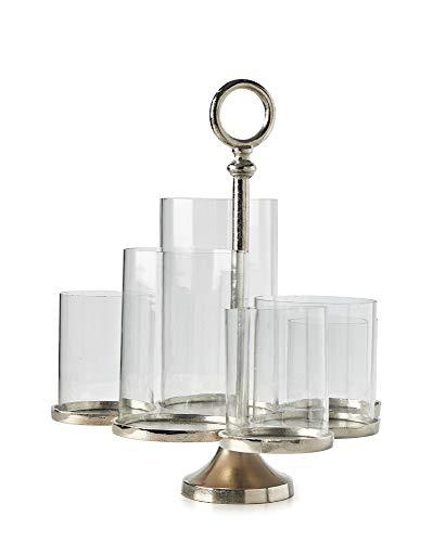Riviera Maison - Windlicht- Lisbon Multiple Hurricane S- Aluminium & Glas -