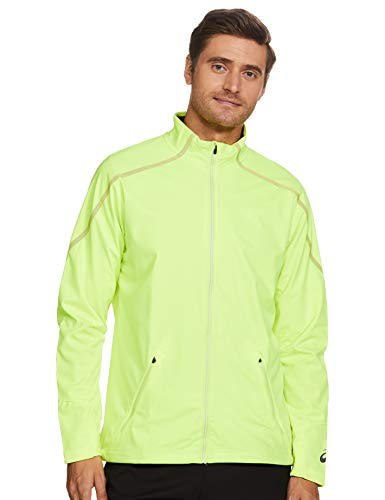 ASICS Men's Lite-Show Winter Jacket-Safety Yellow, 2X-Large Men's Jacket (124759.0392_Safety Yellow_2XL)