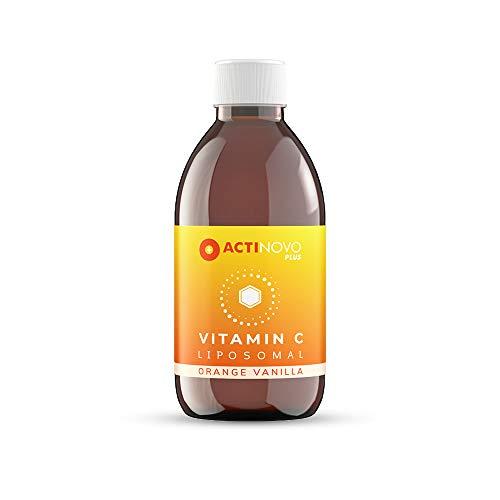 Vitamin C liposomal | Orange-Vanilla 250 ml PLUS | hochdosiert | für dein Immunsystem | Tagesdosis 1000 mg Vitamin C | hohe Bioverfügbarkeit | flüssig | ohne Zusätze | vegan