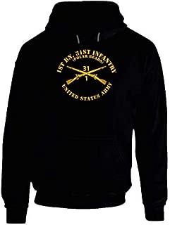 2XLARGE - Army - 1st Bn 31st Infantry Regt - Polar Bears - Infantry Br Hoodie - Black