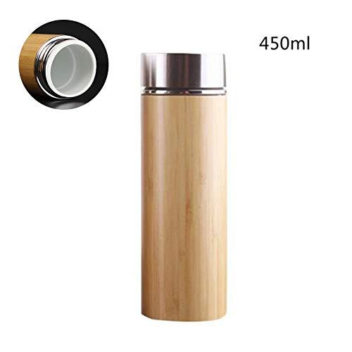 Natürliche Bambus Thermoskanne Tasse Keramik Flasche Isolierflaschen Thermoskannen 12 Stunden Teetasse