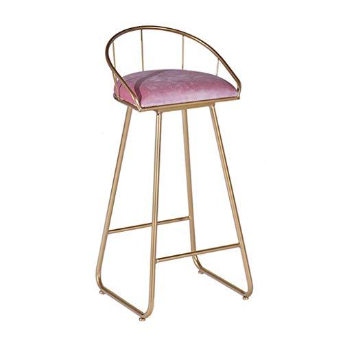 Barkruk, modern, met rugleuning, gevoerd, velours, voor bistrostoelen, barstoelen, keukenstoelen, Scandinavisch design