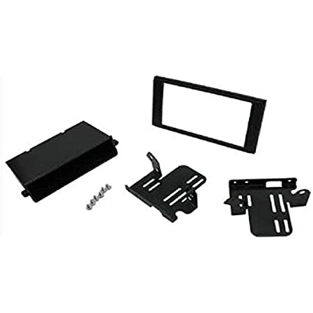 Scosche TA2122B Compatible with 2016-Up Toyota Tacoma Base Model ISO Double DIN w/Pocket Dash Kit Black
