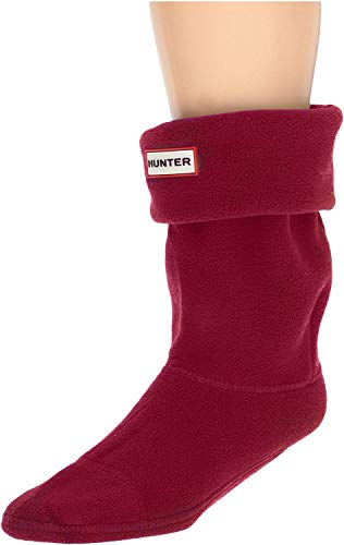 Kurze Socke aus Fleece von Hunter Gr. L, Rot (Military Red)