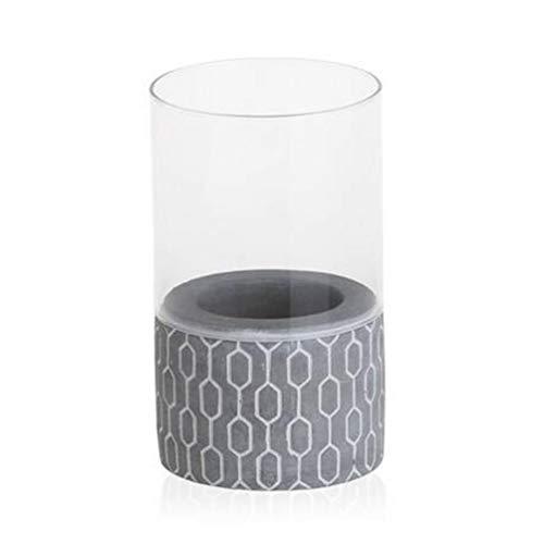 Yankee Candle Tribal Stone Kerzenhalter, Glas, Grau, 15