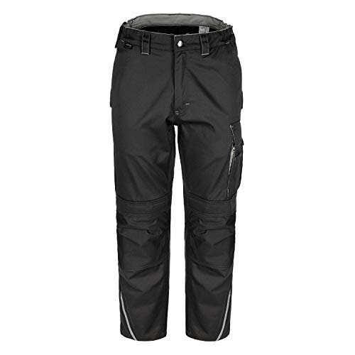 TMG® Finesse Lange Arbeitshose für Herren, Bundhose/Cargohose mit Kniepolstertaschen, Grau 44