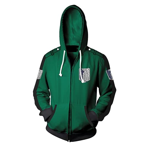 WFQTT Attack on Titan Serie Anime Cosplay Anime Peripherer 3D Pullover (A4,M)