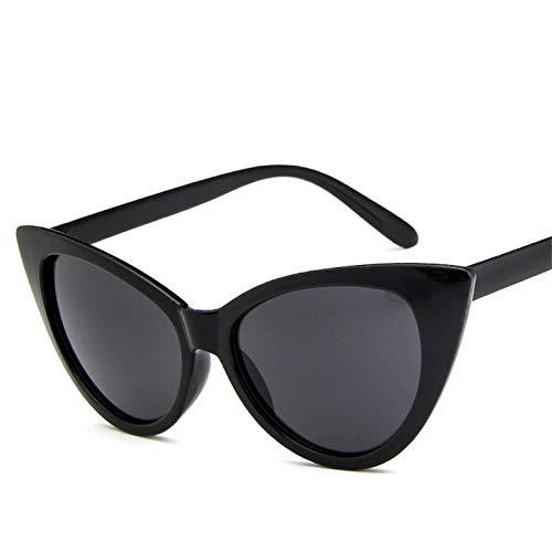 ShZyywrl Gafas De Sol Gafas De Sol De Ojo De Gato Mujer, Gafas De Sol De Marca Retro,Blackgray (L)