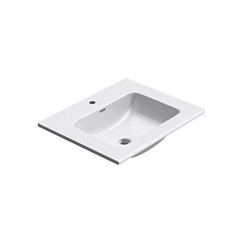 doporro 60x48x12 cm Design Einbauwaschbecken Col02 aus Gussmarmor, Waschbecken, Waschtisch, Handwaschbecken