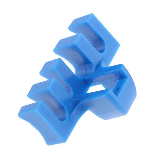 F Fityle Badmintonschläger Load Spreader Adapter Befestigungswerkzeug Schlägerzubehör Bruch Und Verformungsschutz PVC - Blau