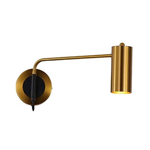 WEM Lámparas de pared, lámpara de pared con brazo oscilante, lámpara de pared giratoria para dormitorio, lámpara de pared, aplique de pared moderno, accesorios de iluminación, luces de lavado de pare